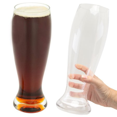 Sharper Image 2 Pack Funny Oversized Beer Glasses 55oz Novelty
