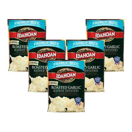 (5 Pack) Idahoan Roasted Garlic Mashed Potatoes, 8 - Roasted Purple Potatoes