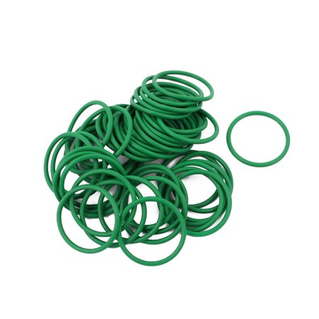 50Pcs 21mm x 1.5mm Rubber Gasket O Ring Sealing Ring Heat Resistant Green - image 2 de 2