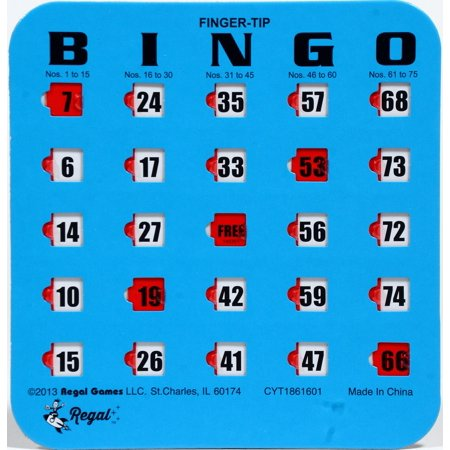 Regal Games 10 Blue Fingertip Shutter Slide Bingo Cards](Halloween Bingo Board)