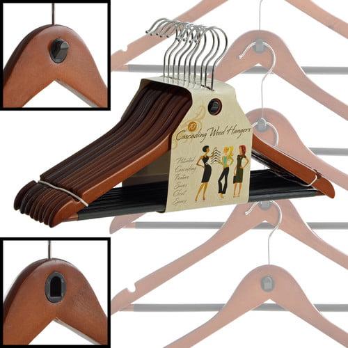 ClutterFree Hangers Wood Cascading Hanger (Set of 40)