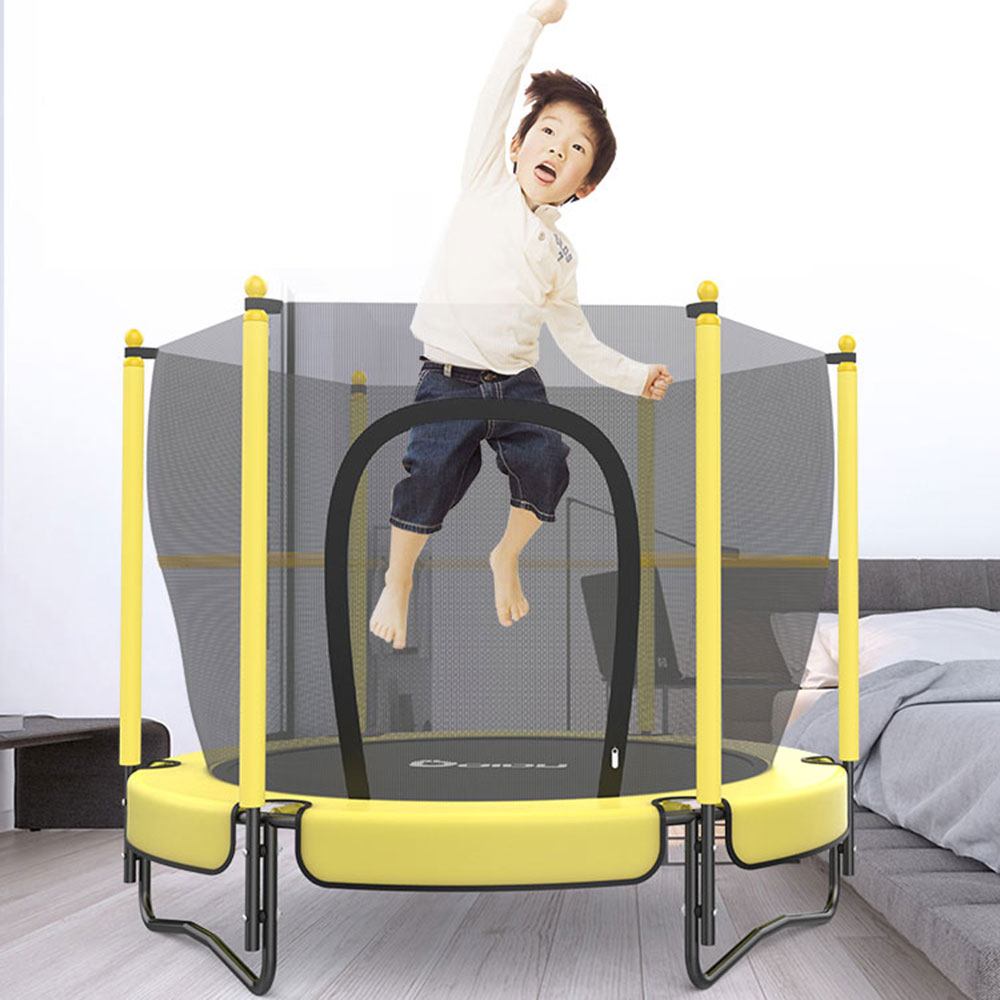 Ktaxon 60 Inches Round Toddler Kids Mini Trampoline With