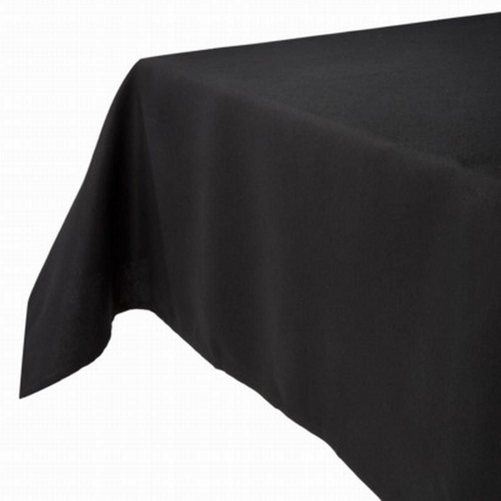 Threshold Solid Black Tablecloth Fabric Table Cloth 70 Round