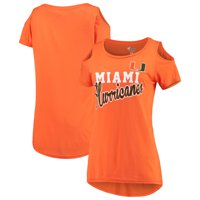 Miami Hurricanes G-III 4Her by Carl Banks Women's Clear the Bases Cold Shoulder T-Shirt - Orange
