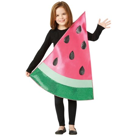 Carving Watermelon Halloween (Sparkling Watermelon Slice Child Halloween Costume, One Size,)
