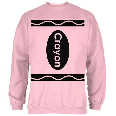 Halloween Crayon Costume Light Pink Adult Sweatshirt - Pink Halloween Line