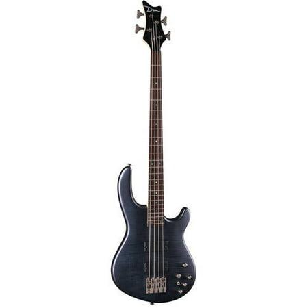 Dean Edge 4 Flame - Top Electric Bass Khaki Guitar - Black