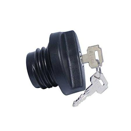 Rds 011537 Locking Black Plastic Fuel Cap Threaded Type W 2 Keys