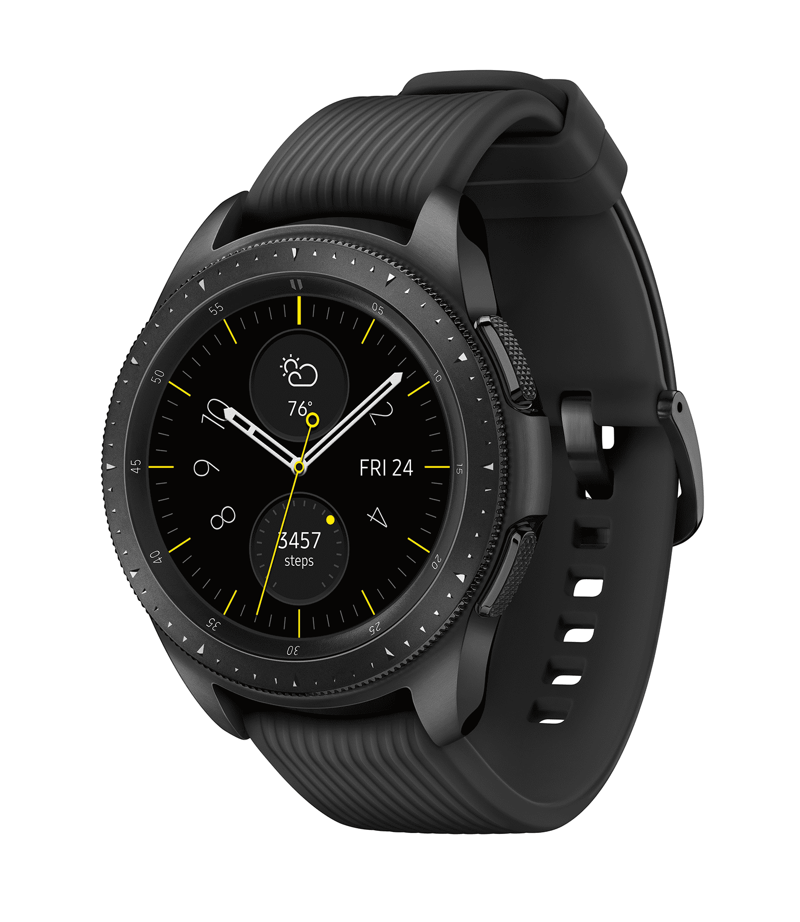 SAMSUNG Galaxy Watch - Bluetooth Smart Watch (42mm) - Midnight Black - SM-R810NZKAXAR
