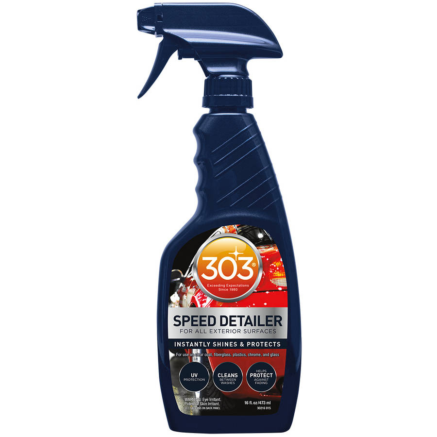 303 (30216) Speed Detailer and Cleaner with UV Protection-Interior and Exterior Car Detailer Spray, 16 fl oz