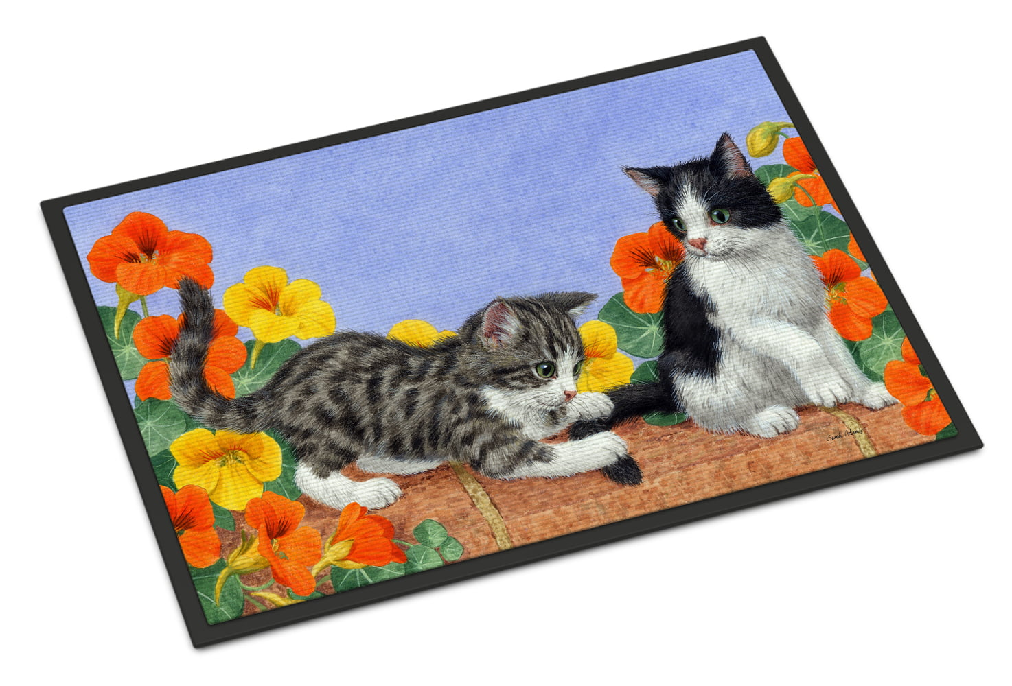 Kittens on Wall Doormat by Caroline's Treasures