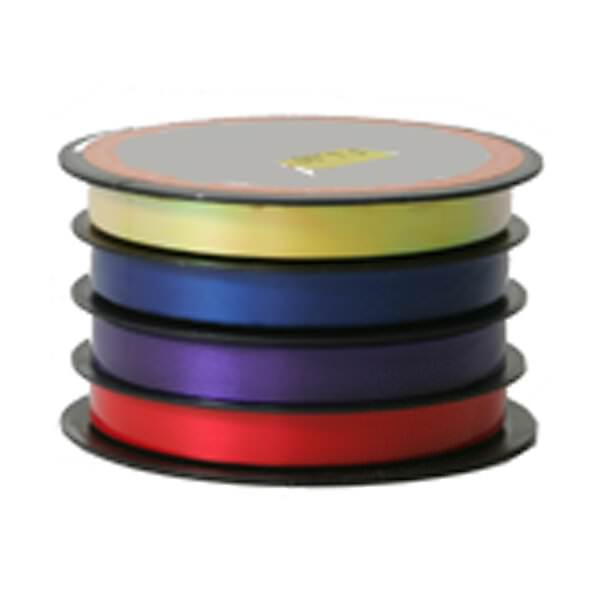 JAM Paper Curling Ribbon, 3/8 Inch x 20 ft., Red, Purple, Blue & Yellow Multicolor, Sold individually