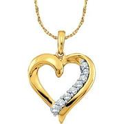 Gold and Diamonds GIP1294-B 0.25CT-DIA HEART PENDANT- Size 7