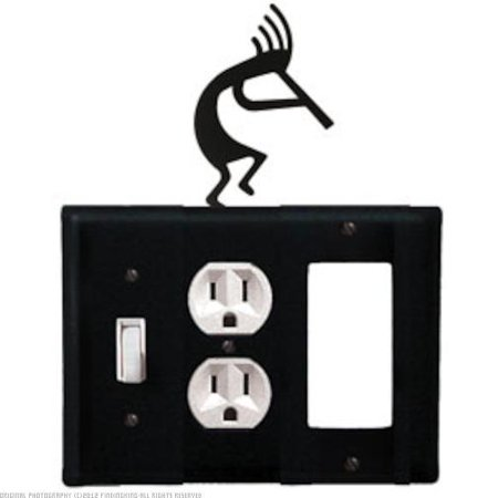 Kokopelli - Switch, Outlet, GFI Electric Cover Powder Metal Coated