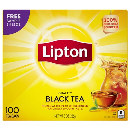 Lipton 100% Natural Tea Black Tea Bags, 100 ct - Tea Bag Costume
