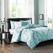 Home Essence Adela 6PC Cotton Sateen Printed Duvet Cover Bedding Set