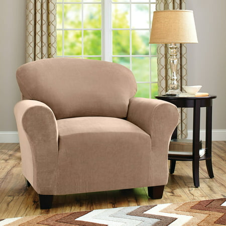 Better Homes And Gardens One Piece Stretch Fine Corduroy Chair Slipcover