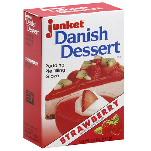 Junket Strawberry Danish Dessert, 4.75 oz, (Pack of 12)