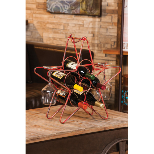 Cape Craftsmen Rustic Star 5 Bottle Tabletop Wine Rack