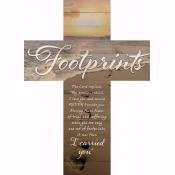 Wall Cross-Footprints-Lath (14 x 19.5)