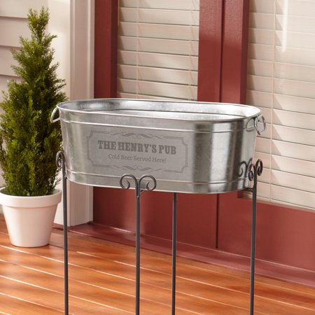 Personalized Create Your Own Beverage Tub w/Stand