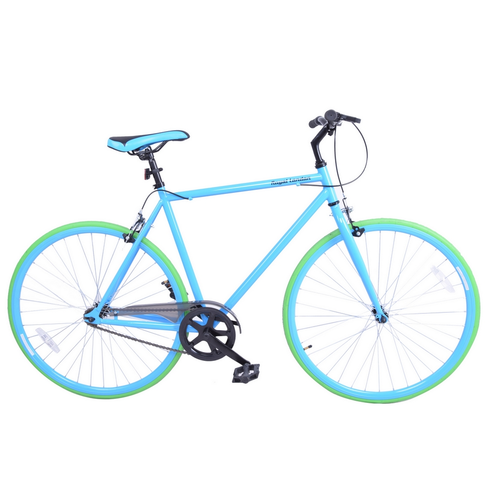 Royal London Fixie Fixed Gear Single Speed Bike - Blue/Green