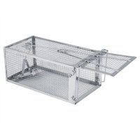 Akozon Live Animal Cage Trap Metal Rat Trap Small Pest Rodent Mouse Control Bait Catch for Raccoon, Stray Cat, Groundhog, Opossum, Rabbit, Skunk, Mink and Armadillos, 10.31  x 5.51  x 4.49