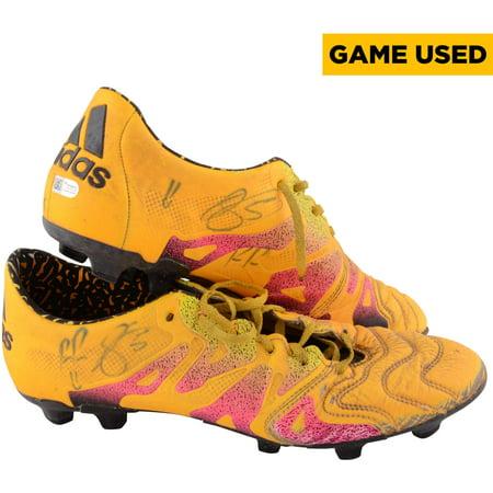 Raul Rodriguez Houston Dynamo Autographed Game-Used #5 Orange Adidas Cleats vs New York City FC on September 30, 2016 - Fanatics Authentic (Adidas Asymmetrical Cleats)