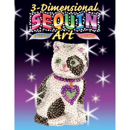 3D Sequin Art - Cat Sparkling Arts and Crafts Picture Kit](Arts And Crafts Toys)
