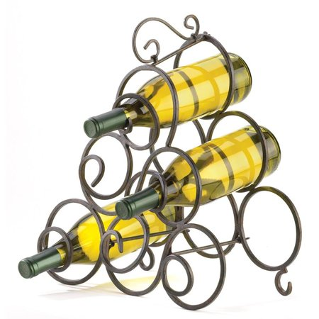 Wrought Iron Wine Rack Scroll Metal Wine Rack Table Bar For Counter