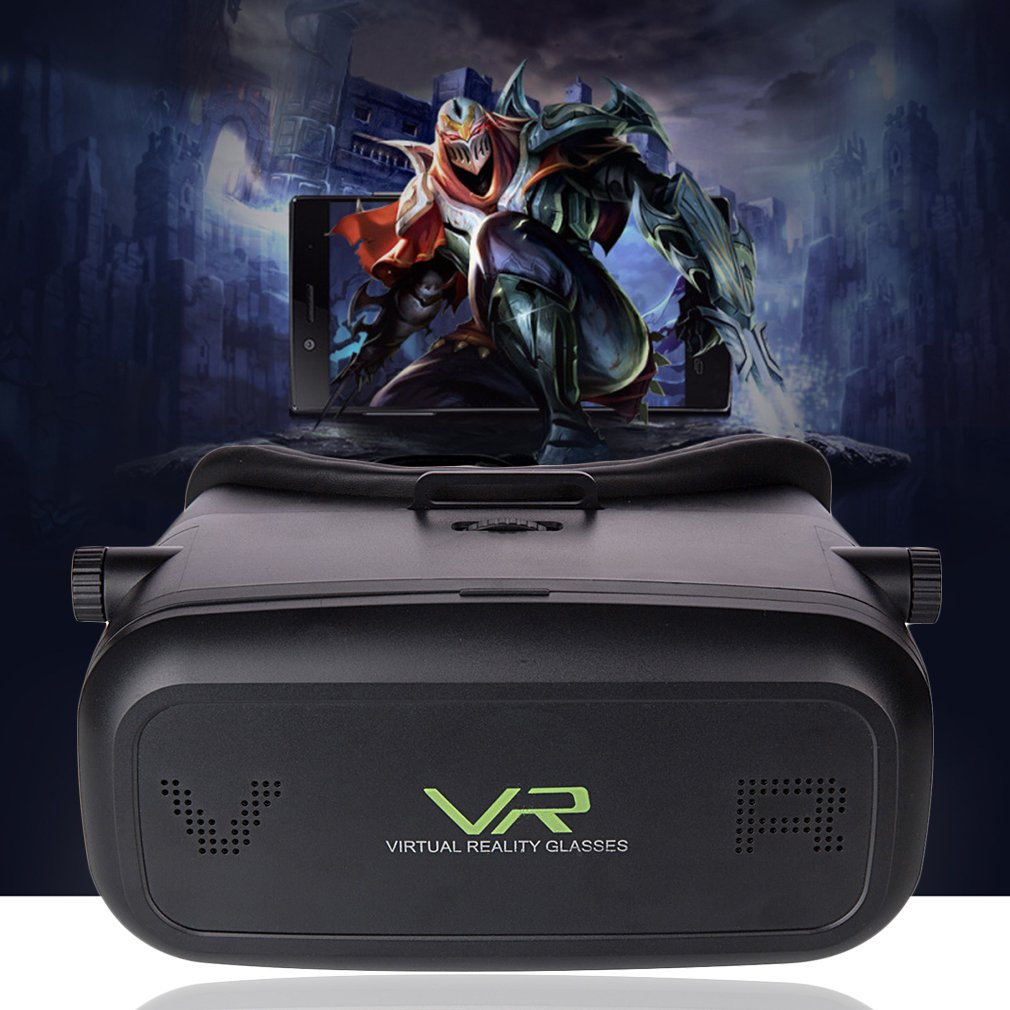 Black 3D Movie Video Games Virtual Reality VR Glasses for 3.5-6 inch Phone