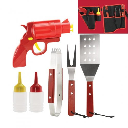 Home Locomotion 7 Piece Bbq Tool Set And Condiments Bl