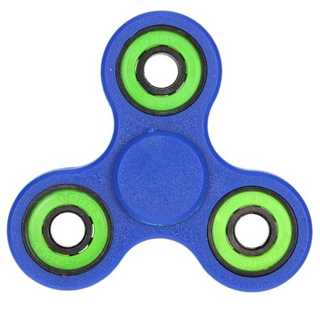Tri Fidget Hand Finger Spinner Spin Widget Focus Toy EDC Pocket Desktoy Triangle Plastic Gift for ADHD Children Adults Relieve Stress Anxiety Boredom Killing Time ()