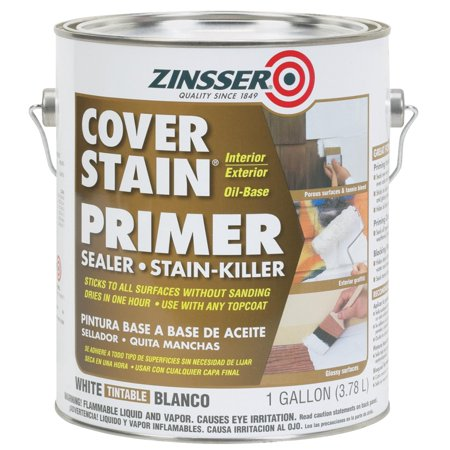 Zinsser cover stain oil base interior exterior sealer and - Exterior paint with primer reviews ...