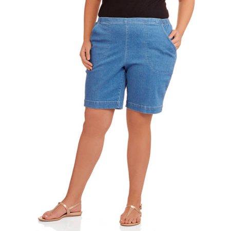2e512725 Just My Size - Women's Plus-Size 2 Pocket Pull-On Shorts - Walmart.com