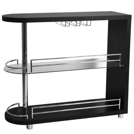 Homegear Deluxe Kitchen Bar Table - Black (Black Bar Table)
