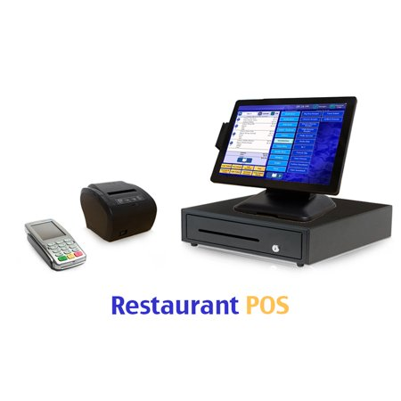 Restaurant Point of Sale System - includes Touchscreen PC, POS Software, Receipt Printer, Cash Drawer, Credit Card Swipe Reader, and Worldpay Payments