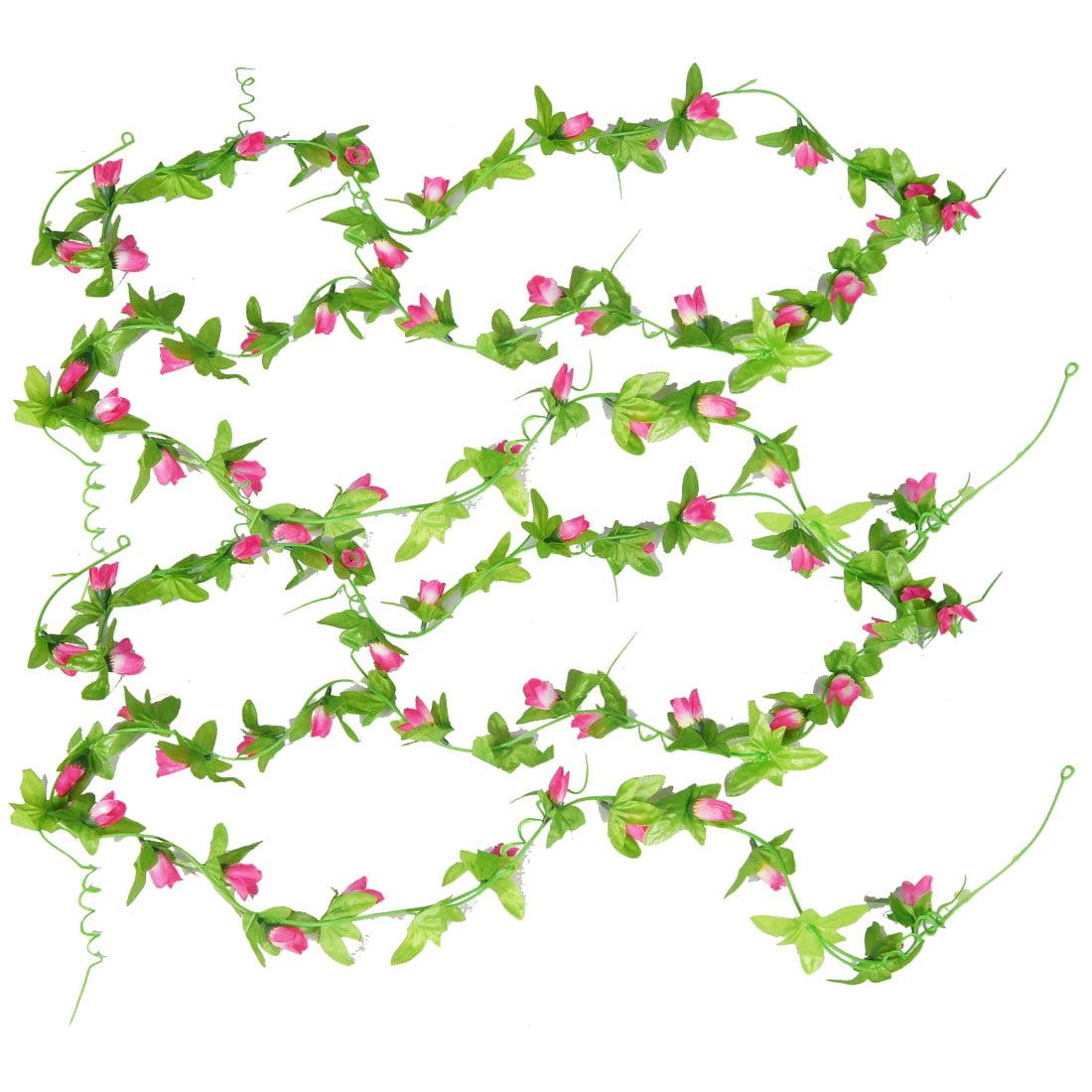 2pcs Wedding Decor Magnolia Bud Artificial Flower Hanging Vine