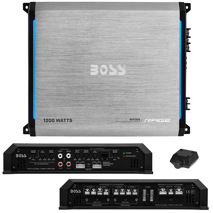 Boss Rage Series 4CH Amplifier 1200W Max