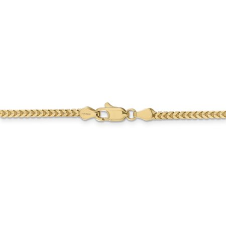 14k Yellow Gold 2.5mm Franco Chain Necklace 20 Inch Pendant Charm Fine Jewelry Gifts For Women For Her - image 5 of 9