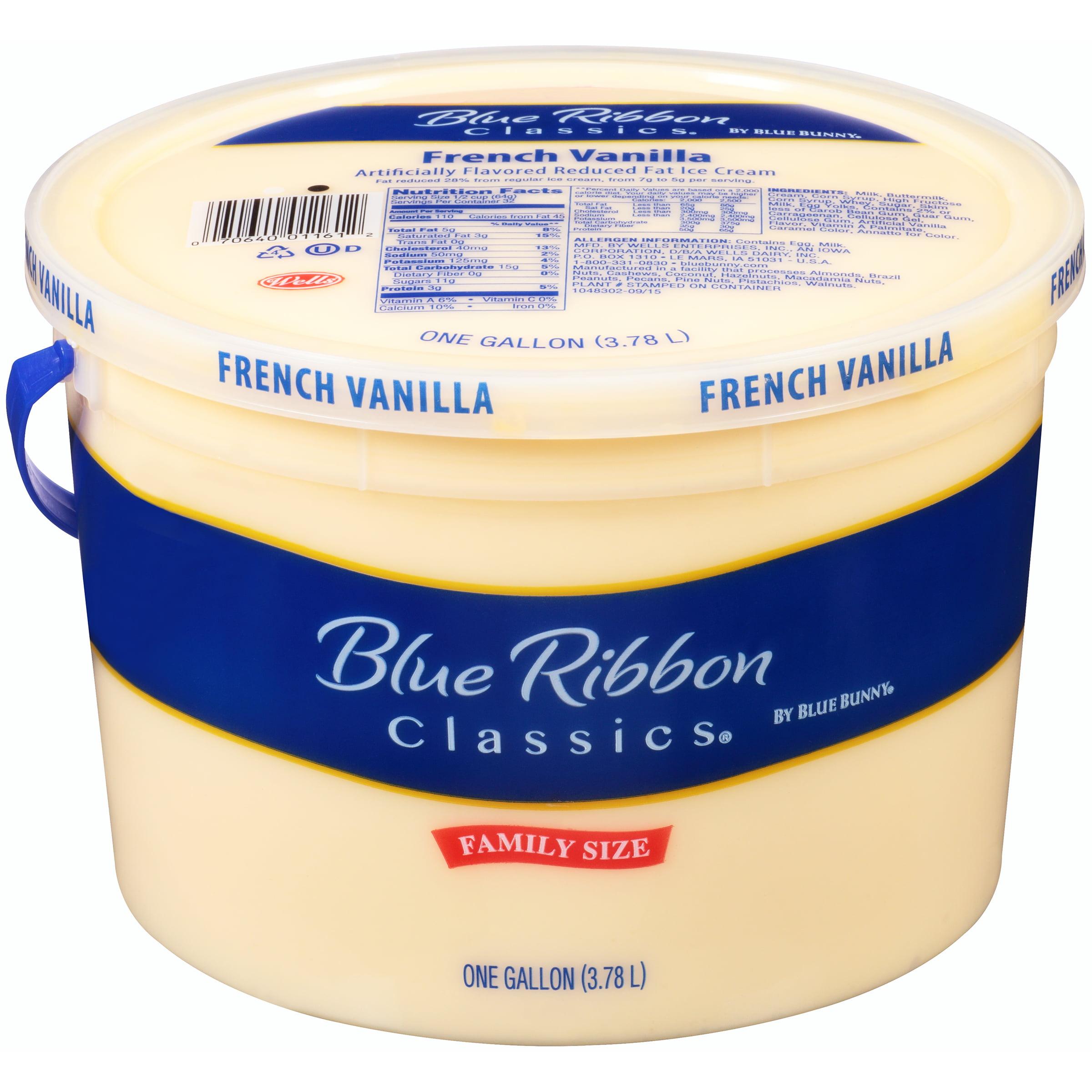 Blue Bunny® Blue Ribbon Classics® French Vanilla Reduced Fat Ice Cream 1 gal. Tub