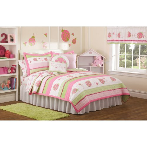My World Crazy Pink Lady Bugs Bedding Set