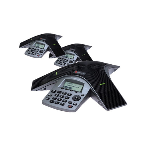 """Polycom 2200-19000-001 (3-Pack) SoundStation Duo Dual Mode Conference Phone"" by Polycom"