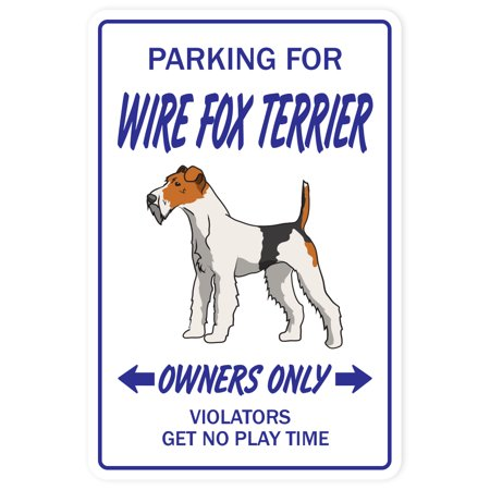 Wire Fox Terrier Novelty Sign | Indoor/Outdoor | Funny Home Décor for Garages, Living Rooms, Bedroom, Offices | SignMission Lover Kennel Boarding Vet Sign Wall Plaque -