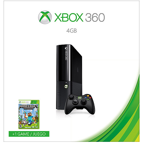 Xbox 360 4GB Console with Minecraft - Walmart Exclusive