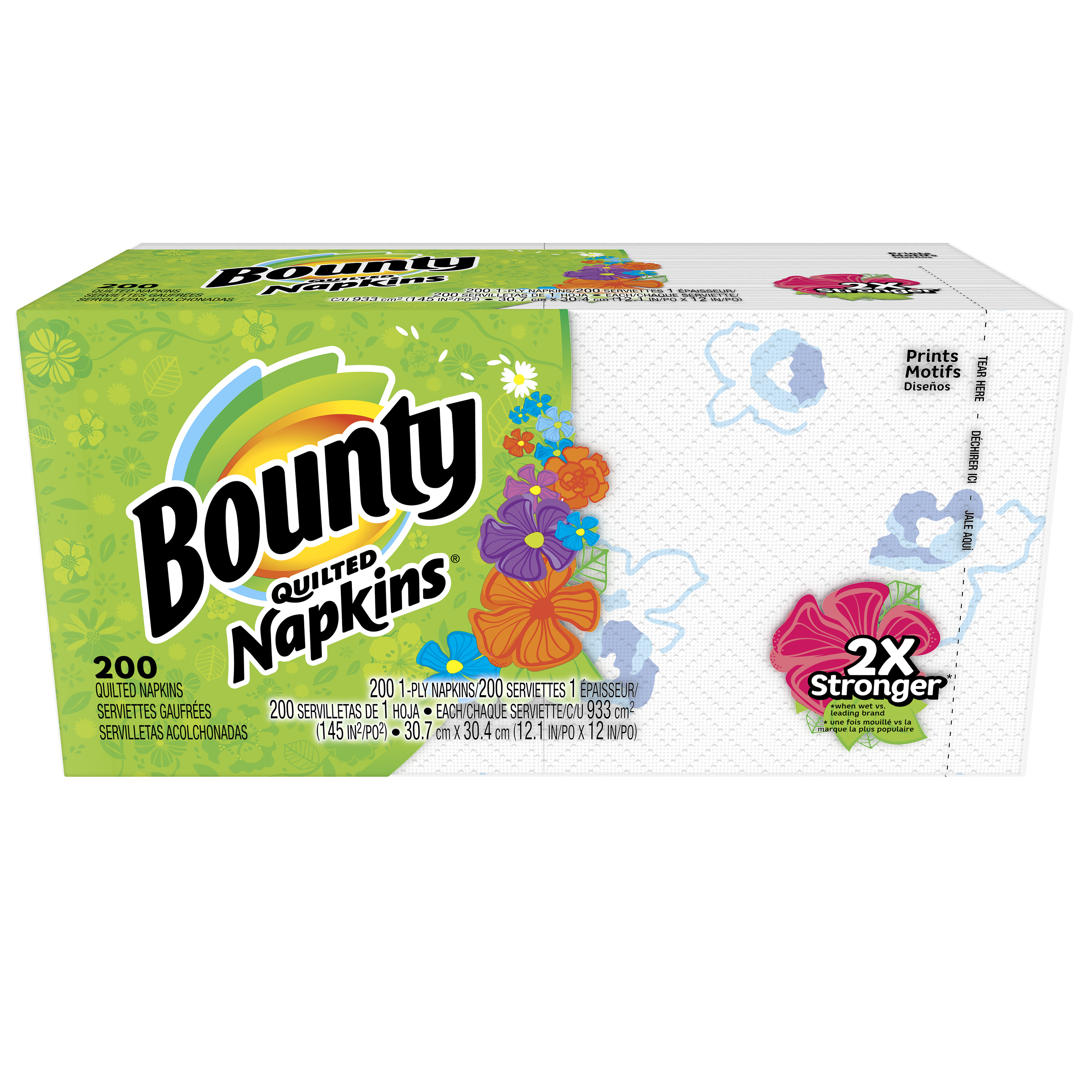 Bounty Paper Napkins, White, 200 Count