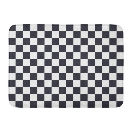 SIDONKU Checker Black and White Squares Pattern Checkerboard Flag Abstract Doormat Floor Rug Bath Mat 23.6x15.7 inch - Black And White Checkerboard Floor