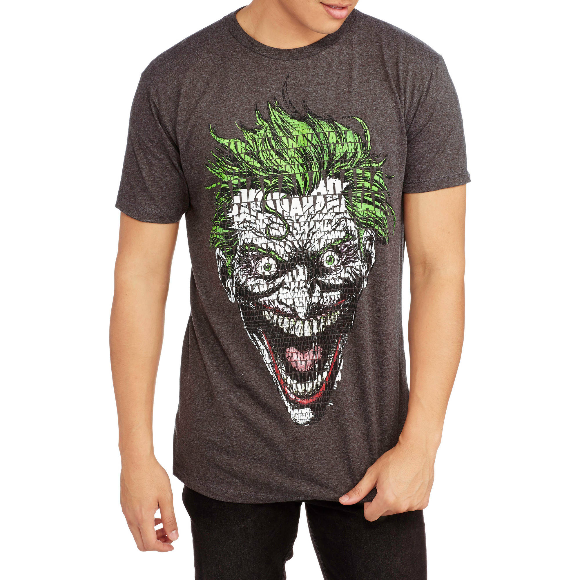 Men's Batman Joker Collage Short Sleeve Graphic Tee