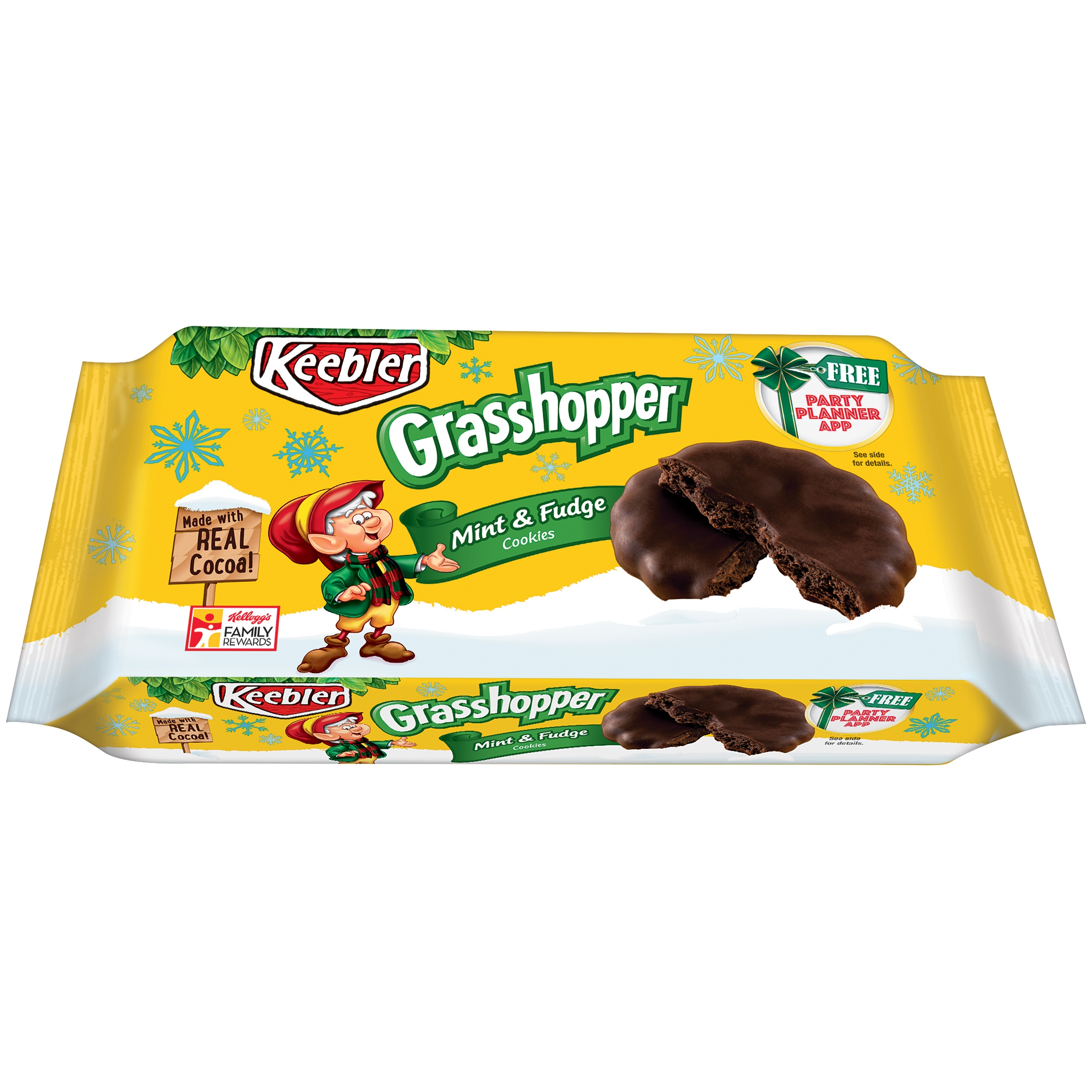 Keebler Grasshopper Mint & Fudge Cookies, 10 oz - Walmart.com