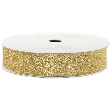 "American Crafts Glitter Paper Tape 3yd-Brown Sugar .625"""